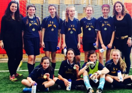Intermediate girls team with head coach Debbie Doreste and assistant coach Cathleen Conlon